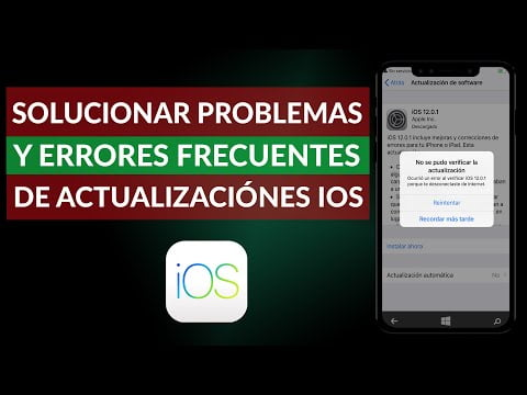 C & oacute; mo Troubleshooting and Common Errors Updates in iOS