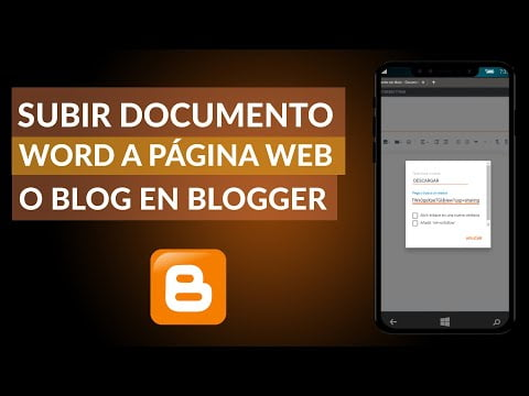 C & oacute; mo upload a file or Word document to a P & aacute; gina Web or Blog in Blogger