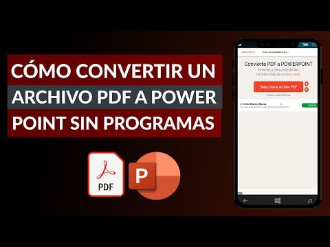 C & oacute ; Mo Convert a PDF to PowerPoint No Free software
