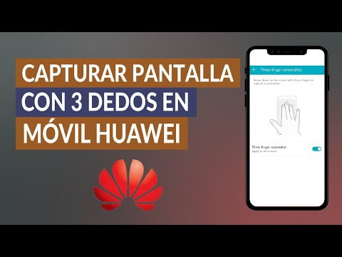 How To Capture Screen With 3 Fingers On My Cell Huawei?