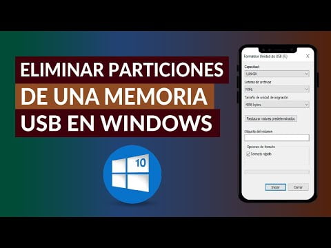 How To Remove A Usb Memory Partitions In Windows 10