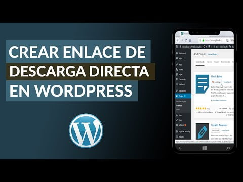 C & oacute ; Mo Link or Direct Download Link From WordPress