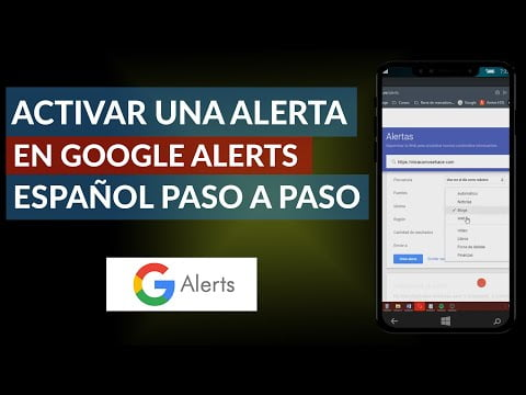 To Activate Or Create An Alert Google Alerts Spanish -Step By Step