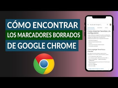 C & oacute; mo find and recover deleted bookmarks Google Chrome