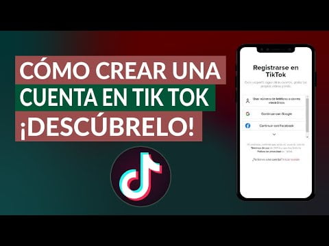 C & oacute; mo creating an account at Tik Tok -F & aacute; R & aacute cil and, ask