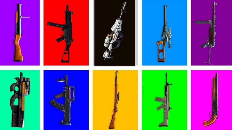 Free Fire Weapon Models