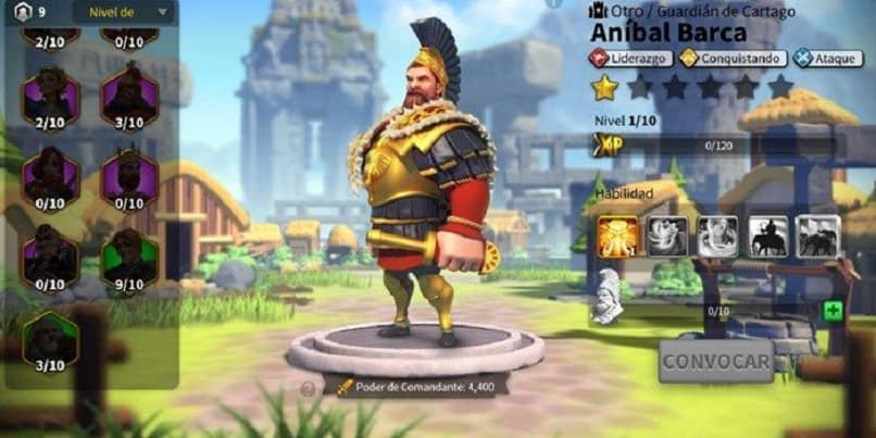 rise of kingdoms commander anibal barca