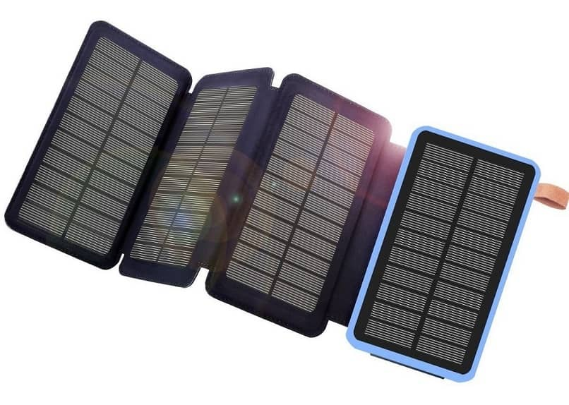 solar chargers in their case