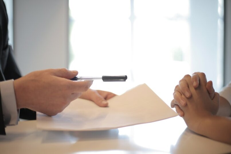 person interviewing another