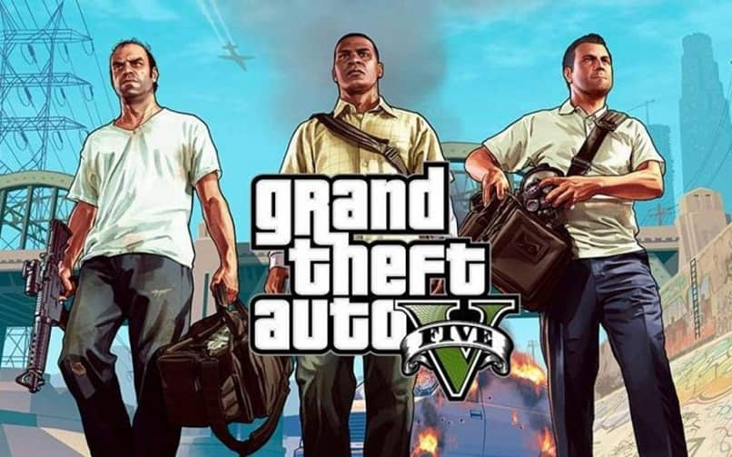 the three princiaples of gta 5 with bag