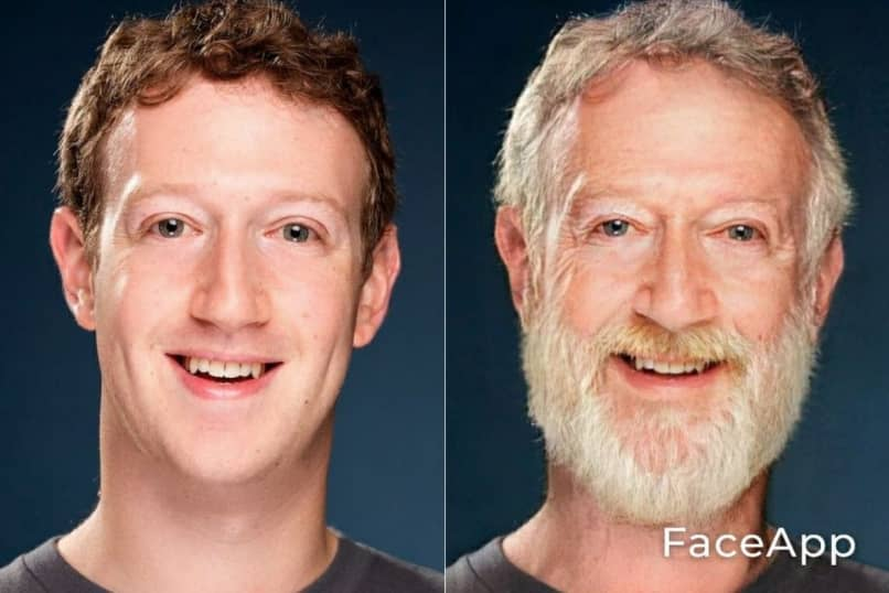 Old Mark Zuckerberg with FaceApp