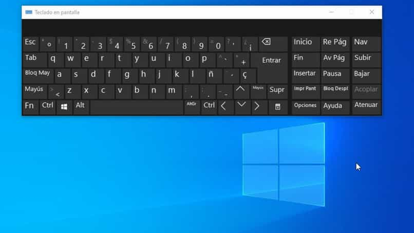 activate virtual keyboard on screen pc windows