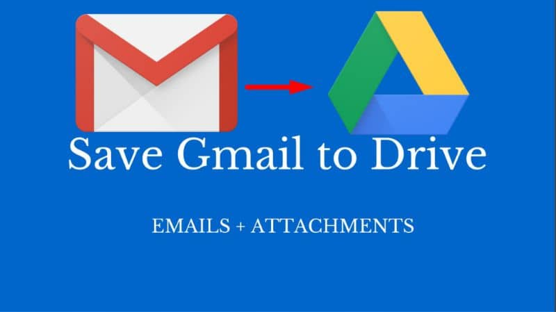 Save from Gmail to Drive