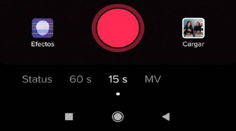 showing red button to record videos on tiktok