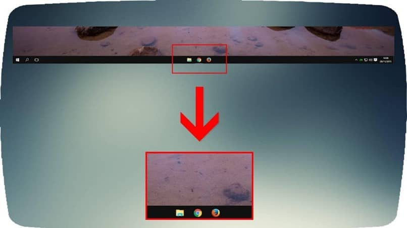 How to Center the Icons in the Middle of the Windows 10 Taskbar (Example)