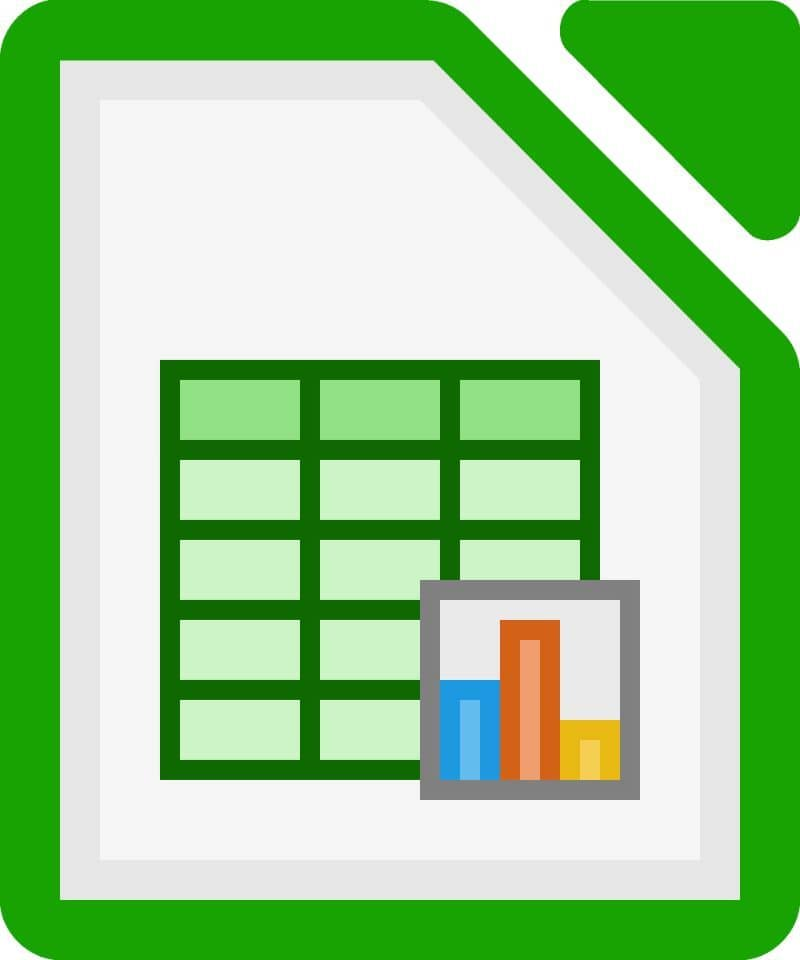 spreadsheet icon in LibreOffice white background in jpg