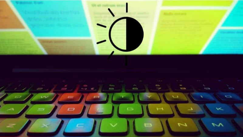 How to lower the brightness of my laptop with keyboard