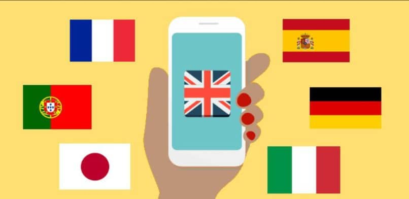 flags cellphone fingers portugal japan italy germany spain
