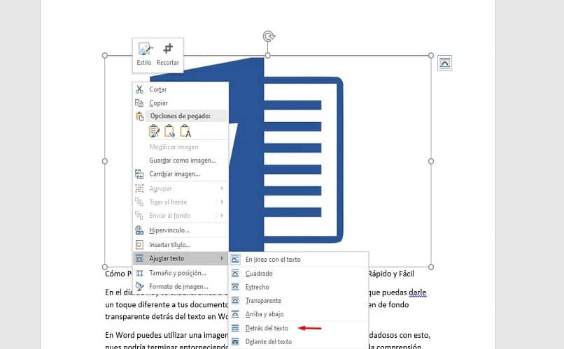 word text interface