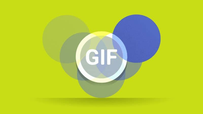 gif and blue circles with green background