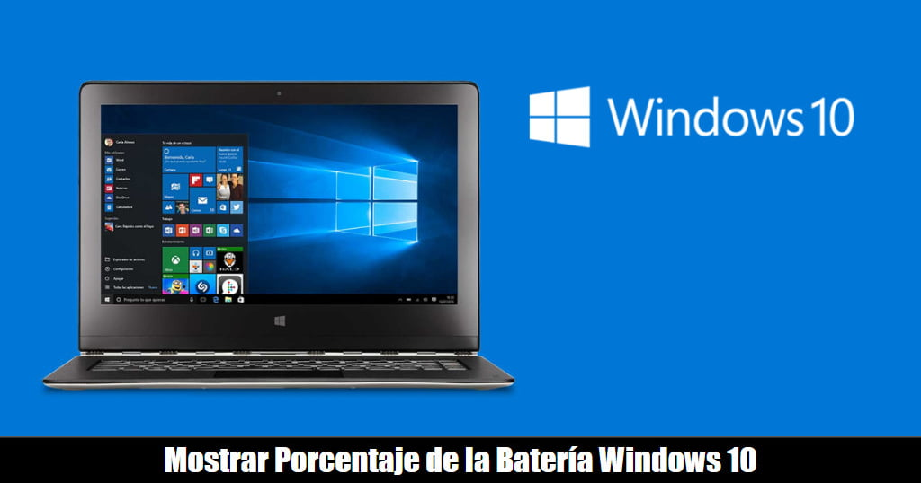 How to Show Percentage of Battery Remaining in Windows 10