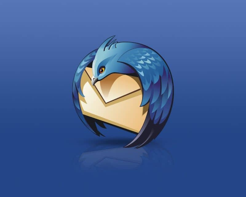 Mozilla Thunderbird logo with blue background