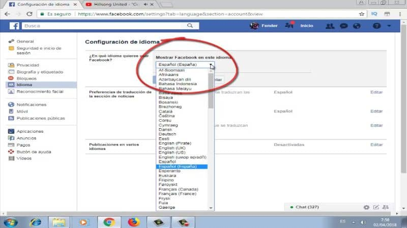 How To Change The Language Of Facebook Messenger From English To Spanish? -Very Easy