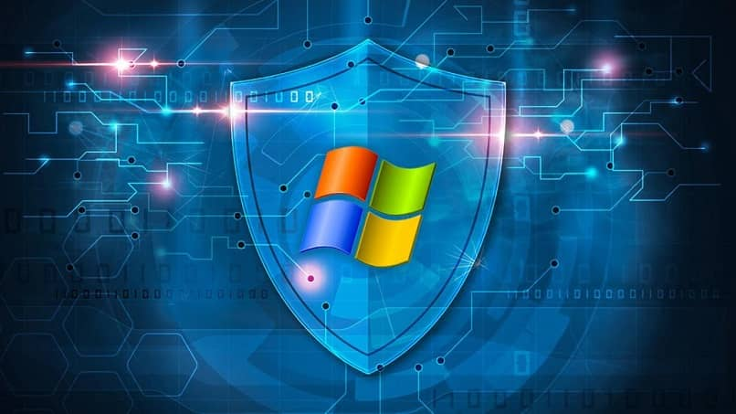 Logo Windows protection against viruses and hacking