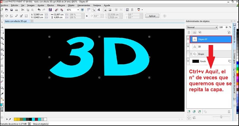 How To Create Or Text With 3d Effect Using Corel Photo Paint -Easy And Fast