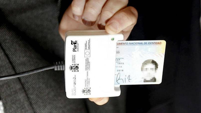 scan the electronic ID card