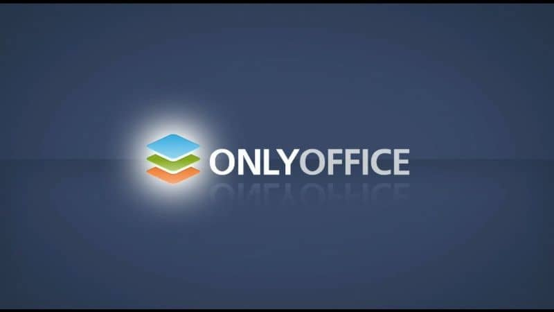 onlyoffice official logo on a dark background