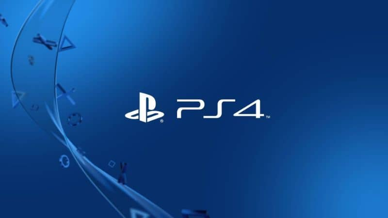 PS4 official blue logo background