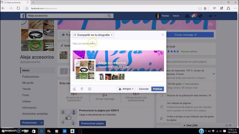 How To Share Or Send Images From A Facebook Page To Another