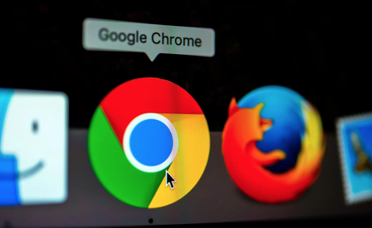 web browsers on the screen