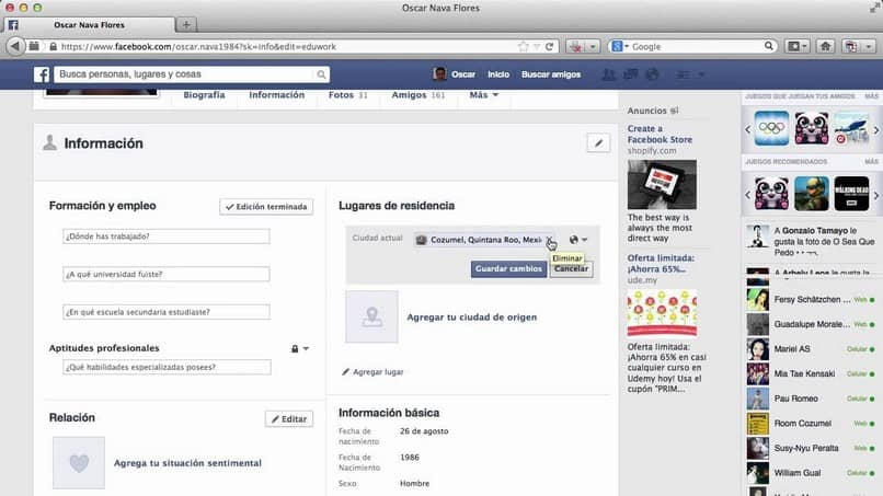 Adding Or Changing My Location On Facebook -Easy And Fast