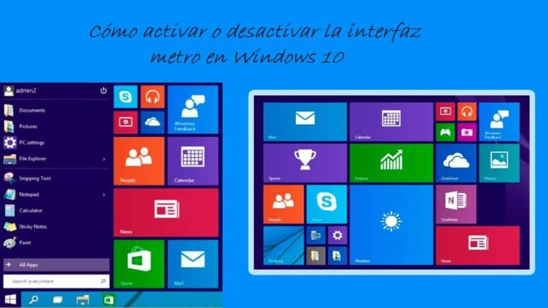 How To Enable Or Disable The Metro Interface In Windows 10