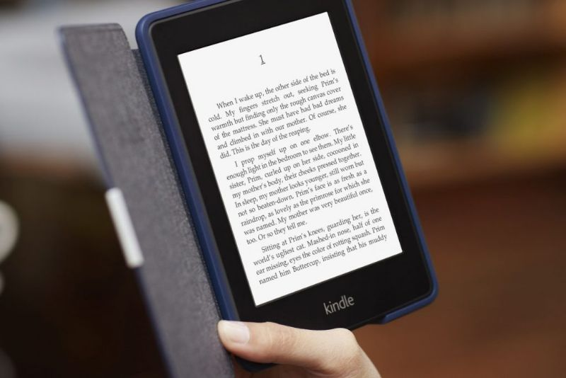 Changing orientation or rotate the screen to reading on a Kindle