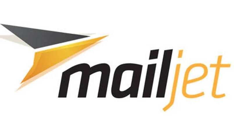 gray and yellow logo mail jet