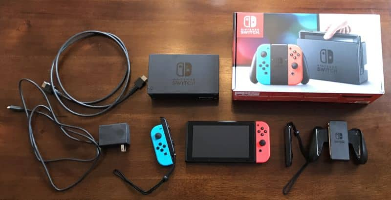 nintendo switch con cables