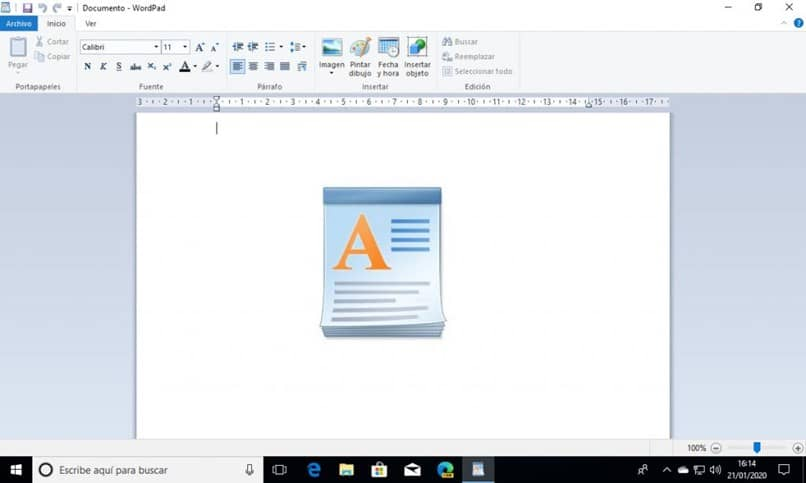 Inserting a new page in WordPad easy and fast