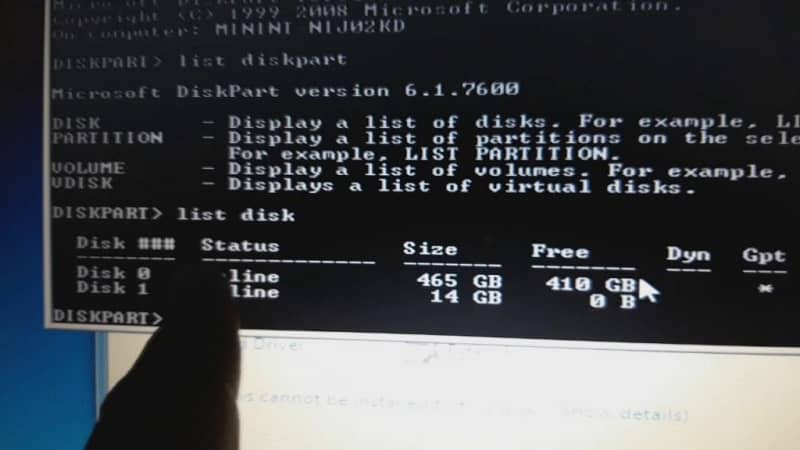 How to make or create a bootable partition with Windows DiskPart