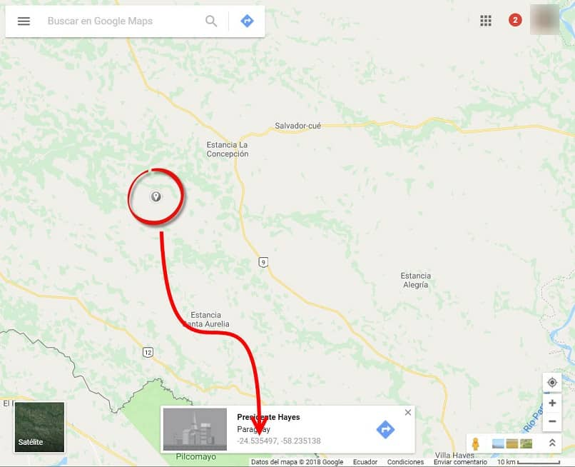 Entering or putting GPS coordinates in Google Maps easily