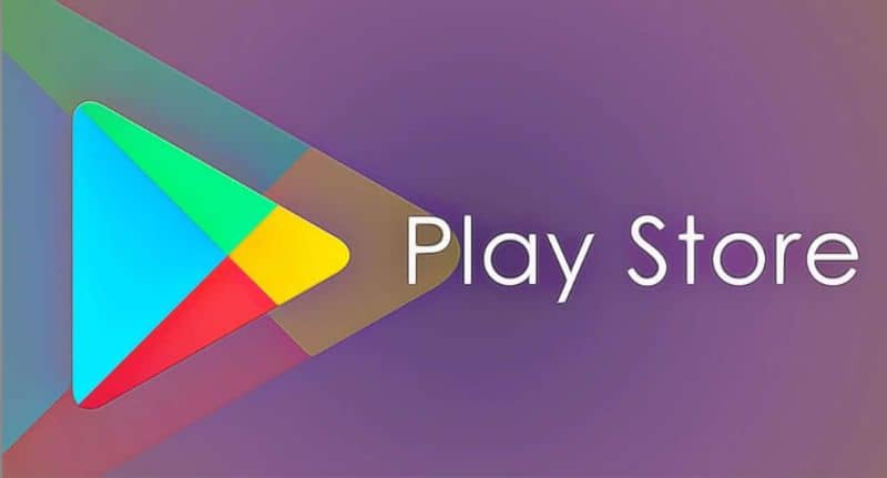 Play store logo purple background