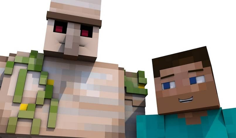 golem with minecraft character