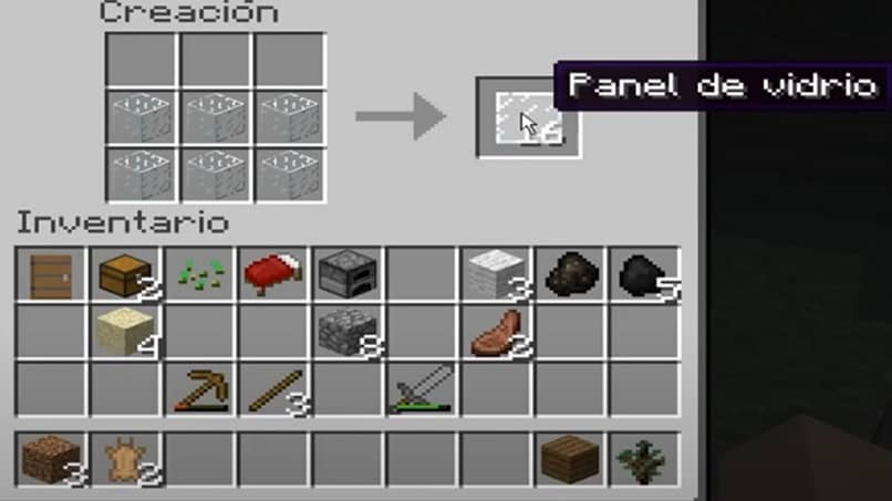 how to create glass panel in minecraft