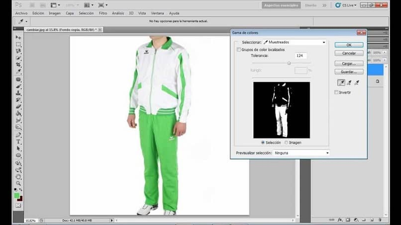 Get clothes to show through with other Photoshop options