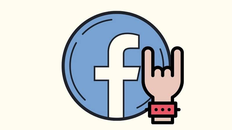 How to Make a Rock Sign or Symbol with Your Hand on Facebook (Example)