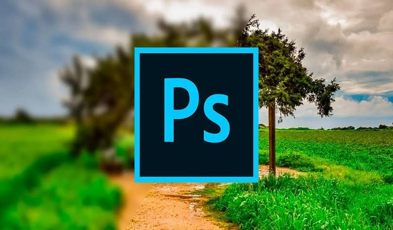 ps logo with tree background