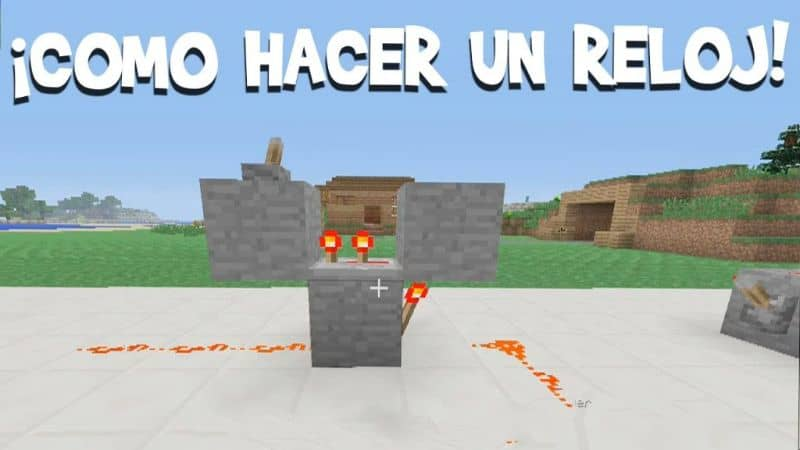 How to Make a Clock, Hourglass or Timer in Minecraft Very Easy!