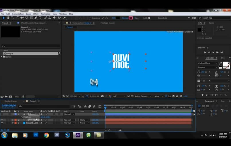 animate titles in after effects